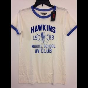 NEW Stranger Things Hawkins A.V. Club tee